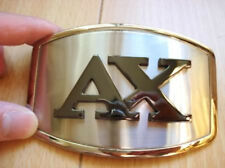 AX Design Black Color Logo Shinning Silver Belt Buckle