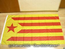 Fahnen Flagge Spanien Katalonien Estelada Groga Digitaldruck - 90 x 150 cm