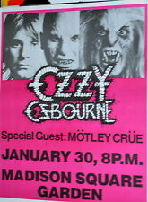 Ozzy, Live at Msg, Original Poster