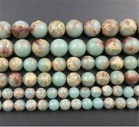 4mm/6mm/8mm/10mm Natural Snake Jasper Round Loose Beads Choose Quantity