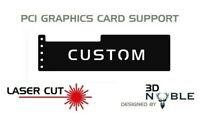 BLACK/COLOUR - Custom/GamerTag - GPU Anti-Sagging Support Bracket/Brace