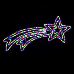 Shooting Star Rope Light Flashing LED Outdoor Christmas Silhouette L118cm Christ