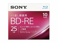 10 Sony Blu ray 25gb 2x Blank Rewritable Bluray Printable BD-RE japan