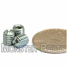M5 x 6mm - Qty 10 - DIN 916 CUP Point Socket Head Set Screw Stainless Steel A2