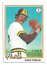 1978 Topps #86 Dave Tomlin San Diego Padres