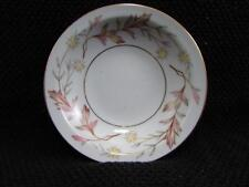 Woodhue by Harmony House Fruit/Dessert Sauce Bowl Brown/Pink Leaves Pale Yellow