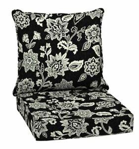Black Outdoor Chair Deep Seat Back Cushion Pad Set Patio Furniture Cheap Durable