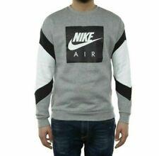 Nike Air Long Sleeve Pullover Crew Neck Gray Black White CD9220-063 Men's NWT