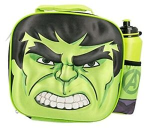 Marvel Hulk 3D Thermal Lunch Bag With Sports Bottle