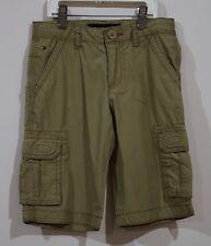 EUC Tommy Hilfiger Boys Back to School Adjustable Waist Khaki Cargo Short Size 6