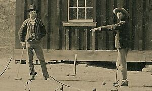 Billy the kid wild west cowboy  - quality glossy photo print  A5 (on the left)