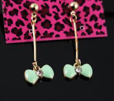 Gift Betsey Johnson bow-knot Golden Ball Ear Stud Dangle Long Drop Earrings