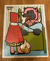 Vintage Playskool Wooden Puzzle Little Red Riding Hood  #290-08, 12 pieces