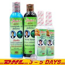 Jinda Herbal Hair Growth Anti Hair Loss Shampoo + Conditioner + Hair Serum x 2