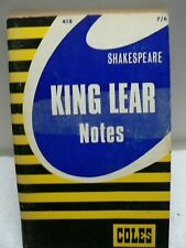 King Lear  Shakespeare Notes Study Guide Coles 1967