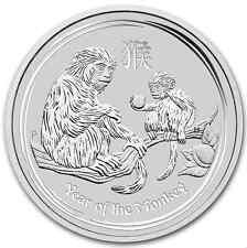 1 dollar 2016 singe Lunar II Australie argent .999 lingot $ silver