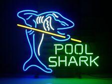 Neon Signs Pool Shark Billiards Beer Bar Pub Store Recreation Room Decor 19x15