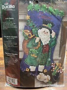Bucilla Felt Stocking Irish Santa