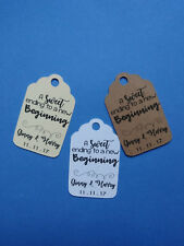 20 personalized Wedding favor tags A sweet ending to a new beginning. Your names