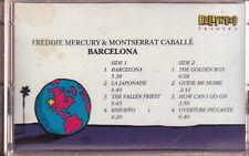 freddie mercury & montserrat gaballe barcelona cassette limited edition queen