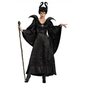 Deluex Movie Maleficent Costume Sleeping Beauty Witch Black Christening Gown