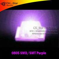 1000PCS 0805 (2012) SMD SMT LED Purple Light Super Ultra Bright lamp Bulb New