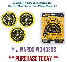 DEWALT DT10397-QZ EXTREME circolare TCT ha Visto Lama 165 x 20mm Confezione da 3