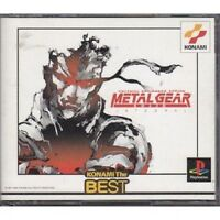 PS1 METAL GEAR SOLID INTEGRAL the Best Japan PS PlayStation 1 F/S