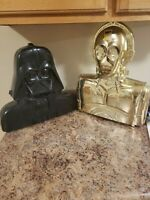 Vintage 1980 Kenner Star Wars Darth Vader and CP30 Carrying Case BLACK & GOLD
