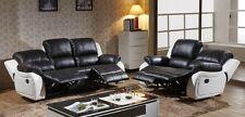 Voll-Leder Couch Sofa Garnitur Relaxsessel Fernsehsofa 5129-3+2-SW sofort
