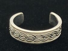 New Solid 925 Sterling Silver Braided Weave Design Toe Ring-One Size Adjustable
