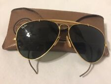 Vintage B&L RAY-BAN Gold Aviator Outdoorsman Cable Sunglasses 58/14 Bausch Lomb