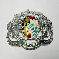 WW1 German Pickelhaube Prussia helmet Badge Silver Brass german Badge design