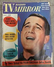 TV RADIO MIRROR JUNE 1961 PERRY COMO PAAR SULLIVAN PAUL BURKE