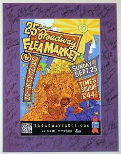 Jonathan Groff, Sutton Foster & 50+ Stars Signed 2011 FLEA MARKET Poster