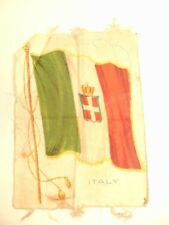 Vintage Nebo cigarette advertising cloth patch showing the old flag of Italy