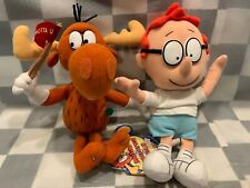 "Adventures of Rocky & Bullwinkle & Friends Plush Toys 9"" Stuffed Lot of 2"