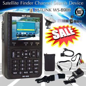 Satlink WS-6906 3.5'' LCD Satellite Signal Finder Meter DVB-S Fit TV/AV .