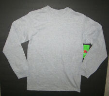 Fruit of The Loom Boys Gray Long Sleeve Crew Neck Shirt Top Size 4-5 NWT