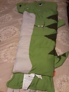 Rexasaurus kids green dinosaur zippered sleeping bag
