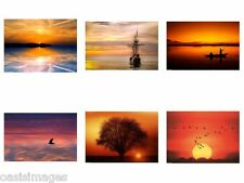 SUNSET reprint,iron on transfer or sticker, 6 choices of picture