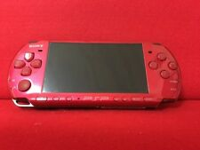 "USED SONY PSP ""Playstation Portable"" Radiant Red (PSP-3000RR) console omly F/S"