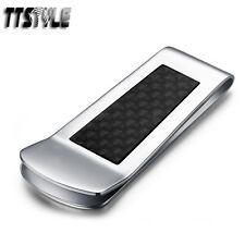 High Quality TTstyle 316L Stainless Steel Black Fibre Money Clip