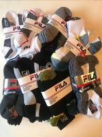 New Fila Men`s Quarter Socks Sport Athletic Gym 6 Pairs