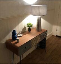 Vintage Console Table Industrial Hallway Furniture Storage Sideboard Side Metal