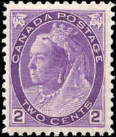1898 Mint NH Canada F-vf Scott #76 2c Queen Victoria Numeral Issue Stamp