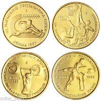 Greece Grece Grecia 100 Drachmes 1997 1998 1999 Commemorate  Set UNC