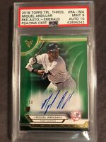 2018 Topps Triple Threads Miguel Andujar Emerald Rookie Auto PSA/DNA 9/10💎POP 1