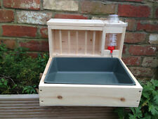 3 in 1 Rabbit Hay Feeder, Litter Box with a built in Bottle Holder