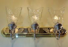 Polished Brass Chrome Bathroom Vanity Light Clear Glass